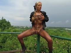 Flashing, Amateur, Flashing, German, Outdoor, Public