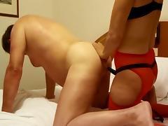 Strap on sex