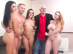 Mea Melone & Jasmine Jae & Harmony Reigns & Porno Dan in Servicing the Czech Drinking Team - ImmoralLive