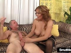 Big titted MILF Nikki rides a fat dick