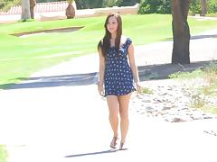 Cute short dress on a teen that loves public flashing