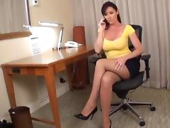 Yellow shirt woman