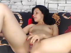 Brunette, Amateur, Brunette, Masturbation, Solo, Webcam