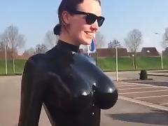 Catsuit, Big Tits, Boobs, Catsuit, Latex, Mistress