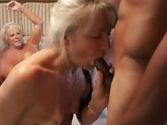Slutty grandmas and horny black guys fucking hardcore