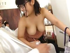Chubby Asian chick Kawai is totally down for some cock sucking
