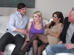 Orgy, Group, Huge, Orgy, Stockings, Swingers