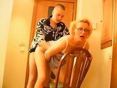 Sexy blonde mature milf fucking and drawing with h that is