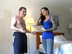 Goddess Maria Marley destroys the testicles of Andrea Dipre!
