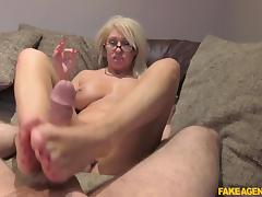 Mia in Massive Facial for Hot Blonde MILF - FakeAgentUk