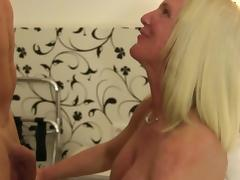 XXX Omas - German amateur sex with big titted mature blondie