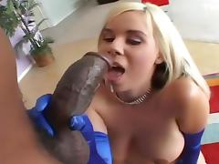 Blond Hotty Makes Cholocate Cum