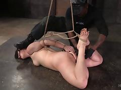 Amazing babe almost cries during the roughest BDSM play ever