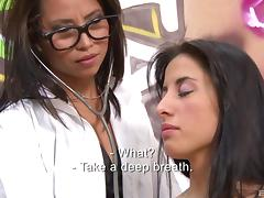 Pussy licking session of the nerdy Latina lass and her best friend