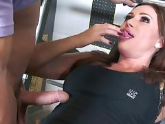 Sky Taylor always liked to get her pussy drilled in the local gym