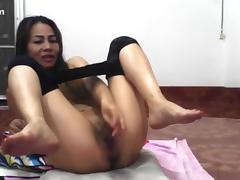 Asian, Asian, Masturbation, Solo, Stockings, Webcam