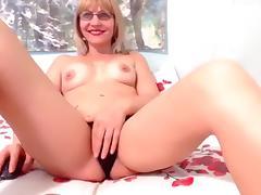 Blonde, Blonde, Masturbation, Small Tits, Solo, Webcam