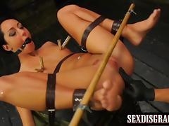 Attractive babe Sabrina Banks gets molested and fucked hard