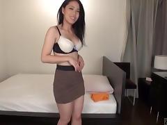 Subtitled Japanese AV star Mitsuki Mastuura ENF striptease