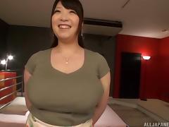Chubby Asian tart with massive melons Shizuku Amayoshi gets rammed