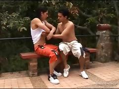 Latin Lust Gay Bareback Threesome