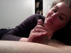 Pov amateur blowjob to a nerd guy