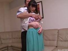 Vibrations combined with the cock for the gorgeous Iioka Kanako