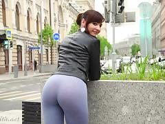 Russian, Cameltoe, Outdoor, Public, Russian