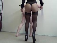 Ball Kicking, Asian, Big Tits, Femdom, Lingerie, Mistress