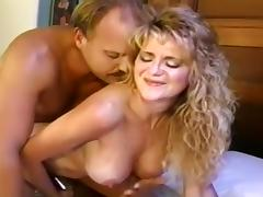 Joleen uses Vibrator on her Pussy while Rod Fucks her Ass Hard