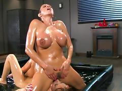 Oiled bitches naughty scenes of severe lesbian masturbation