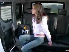 FuckedInTraffic - Russian teen cheats with cabbie in his car