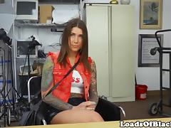 Inked casting babe fingered and doggystyled
