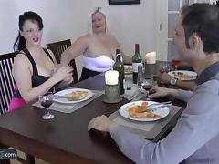 Granny chubby hardcore group sex with friends thats how dinner party gone wrong