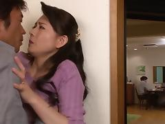Exquisite Eriko Muira allows the partner to touch her intimate areas