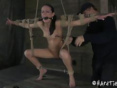 Will Hailey Young be able to handle such a rough bondage treatment?