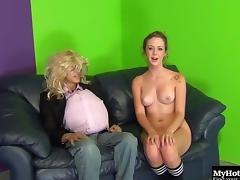 Smooth-skinned Kimber Day moans during the hard pussy stuffing