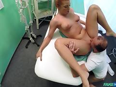 Crissy in Gorgeous redhead prescribed cock by her doctor - FakeHospital