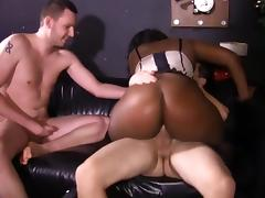 Ebony Interracial Gangbang