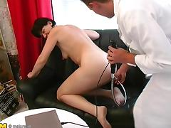 Jolinda feels the pleasure going through her body during the banging