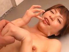 Sexy Japanese slag loves making fat cocks explode with cum
