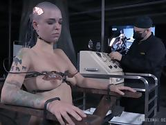 Bald chick goes through the wildest BDSM adventure of her life