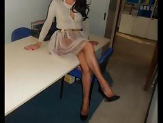 Stockings, Nylon, Office, Sex, Stockings, German Teen