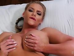hot blonde offering dick raising blowjob