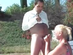 Saggy granny fucks husband and friend