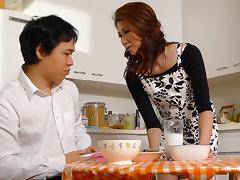 Yoshioka Nanako in Yoshioka Nanako is satisfying her step- son with her lips - AviDolz