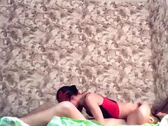 Amazing Amateur video with Wife, Brunette scenes