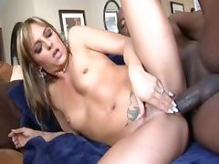 Incredible pornstars Madelyn Marie and Lexi Love in amazing big tits, brunette adult movie