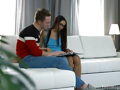 Gorgeous Russian babe Dolce Vita has her tight cunt hammered