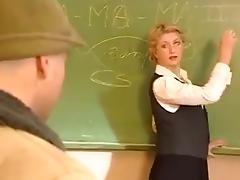 Blonde proffesor anal